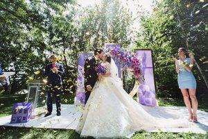Сиреневая свадьба Леши и Тани в ресторане «Маринад»
