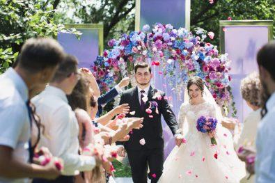 """Сиреневая свадьба Леши и Тани в ресторане """"Маринад"""""""