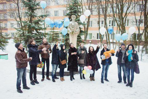 Выписка Даника из роддома больницы Вишневского