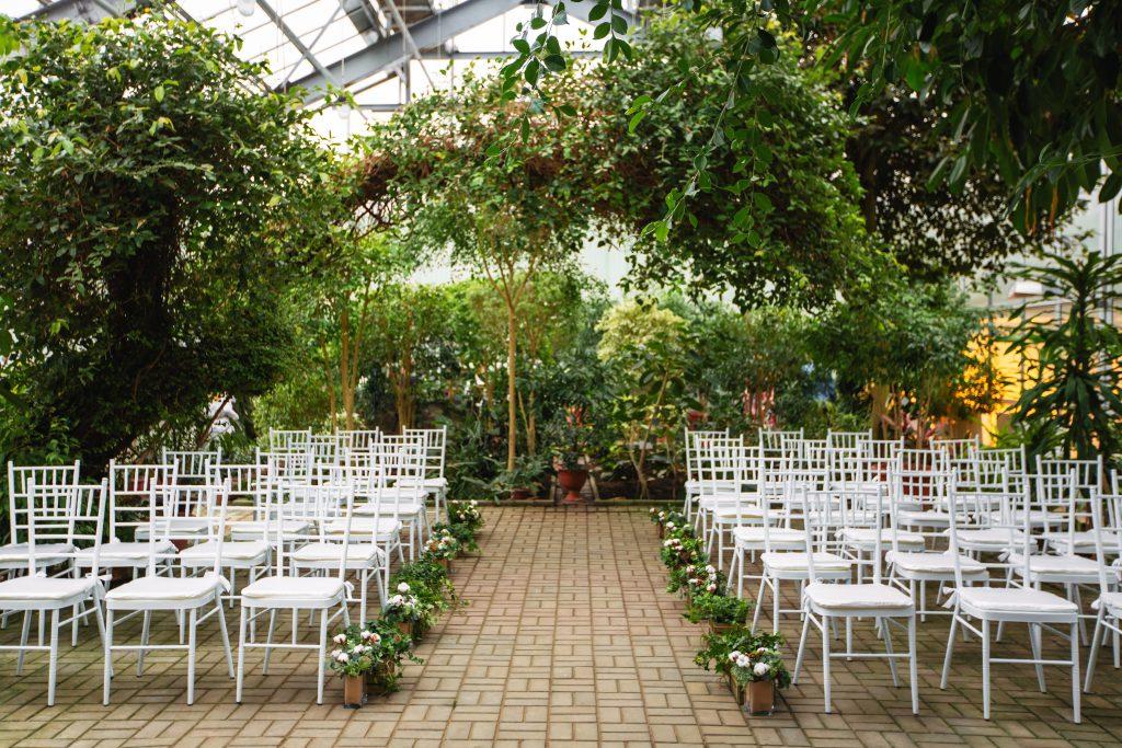 Зимняя свадьба в донецком Ботаническом саду