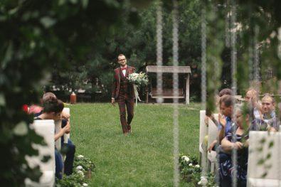 "Эко свадьба с круглой аркой в ""Шафране"""